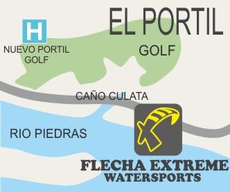 localizacion escuela de kitesurf, paddle, kayaks y campamentos